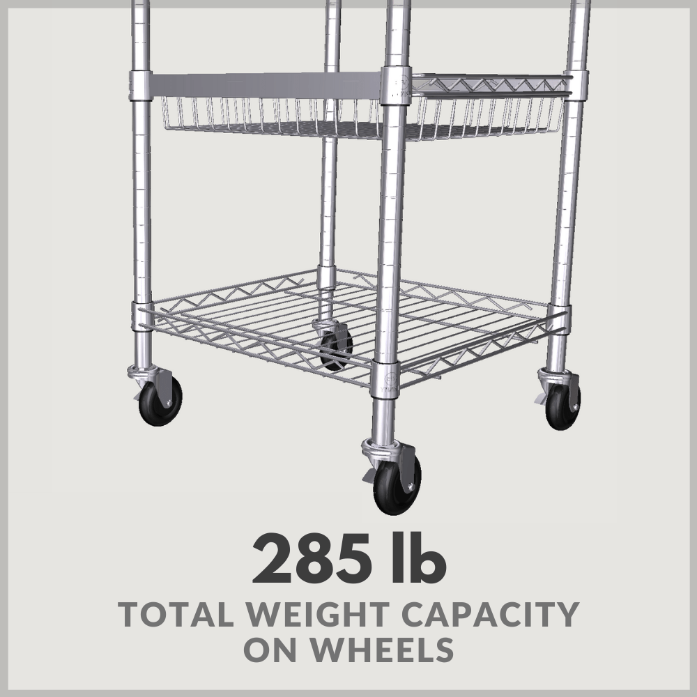 285 lbs total weight capacity