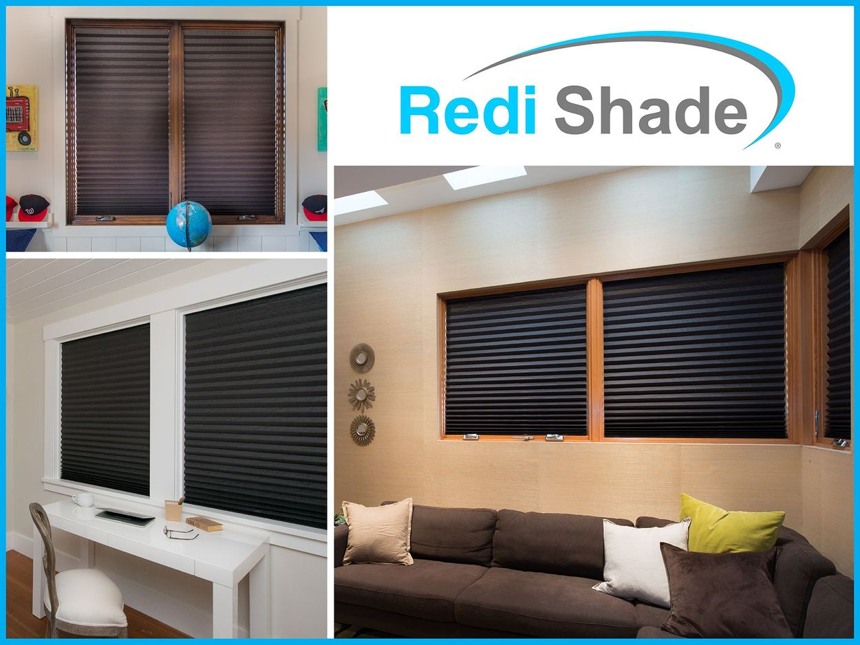 Redi Shade Original 36 In X 72 In Black Blackout Cordless Pleated Shade In The Window Shades Department At Lowes Com