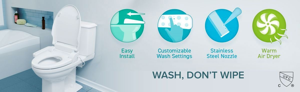 WASH, DON'T WIPE