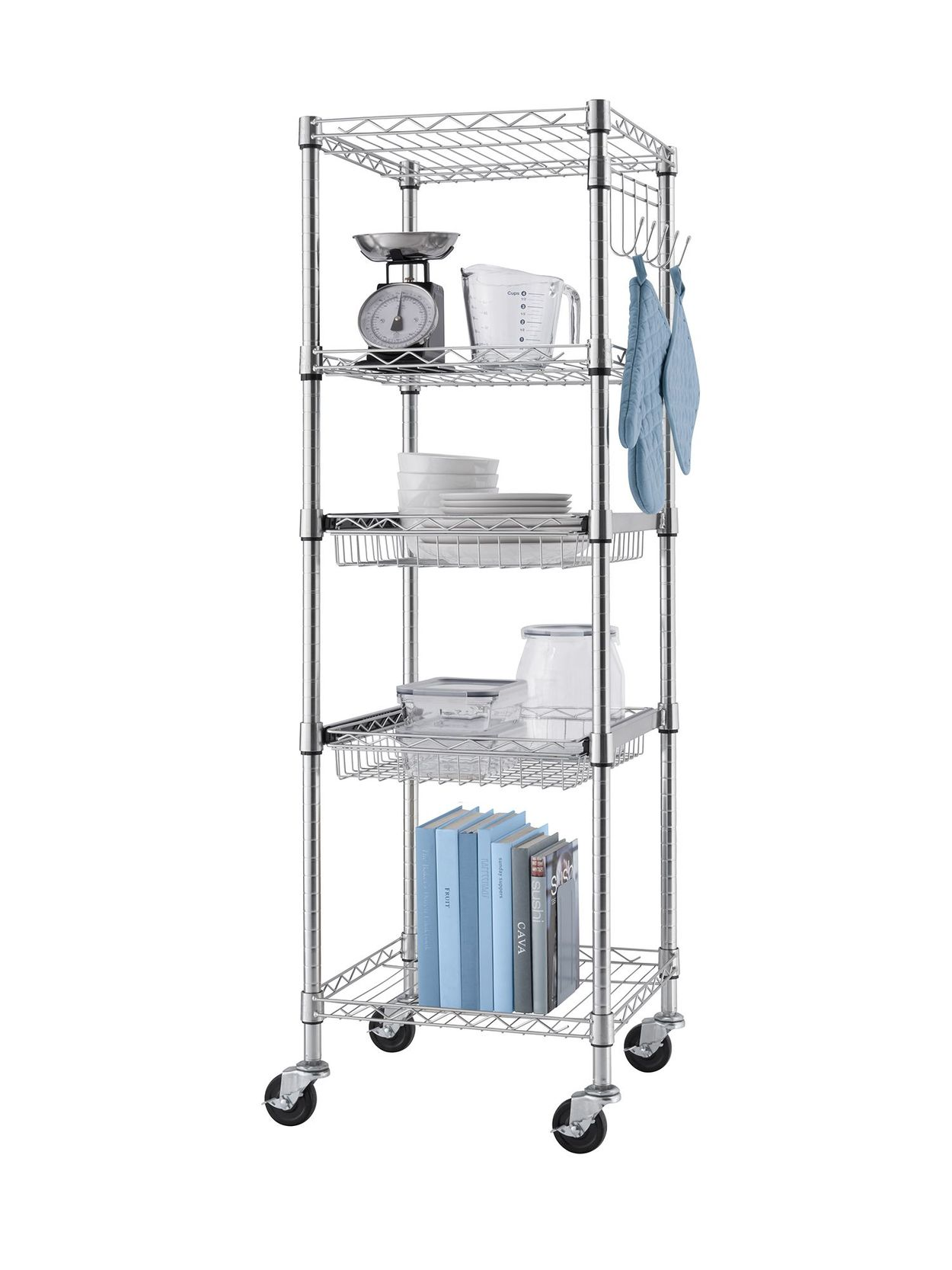 TRINITY Square rack with kitchen props
