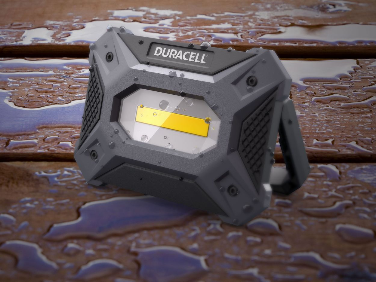 Image of the worklight in water showing durability