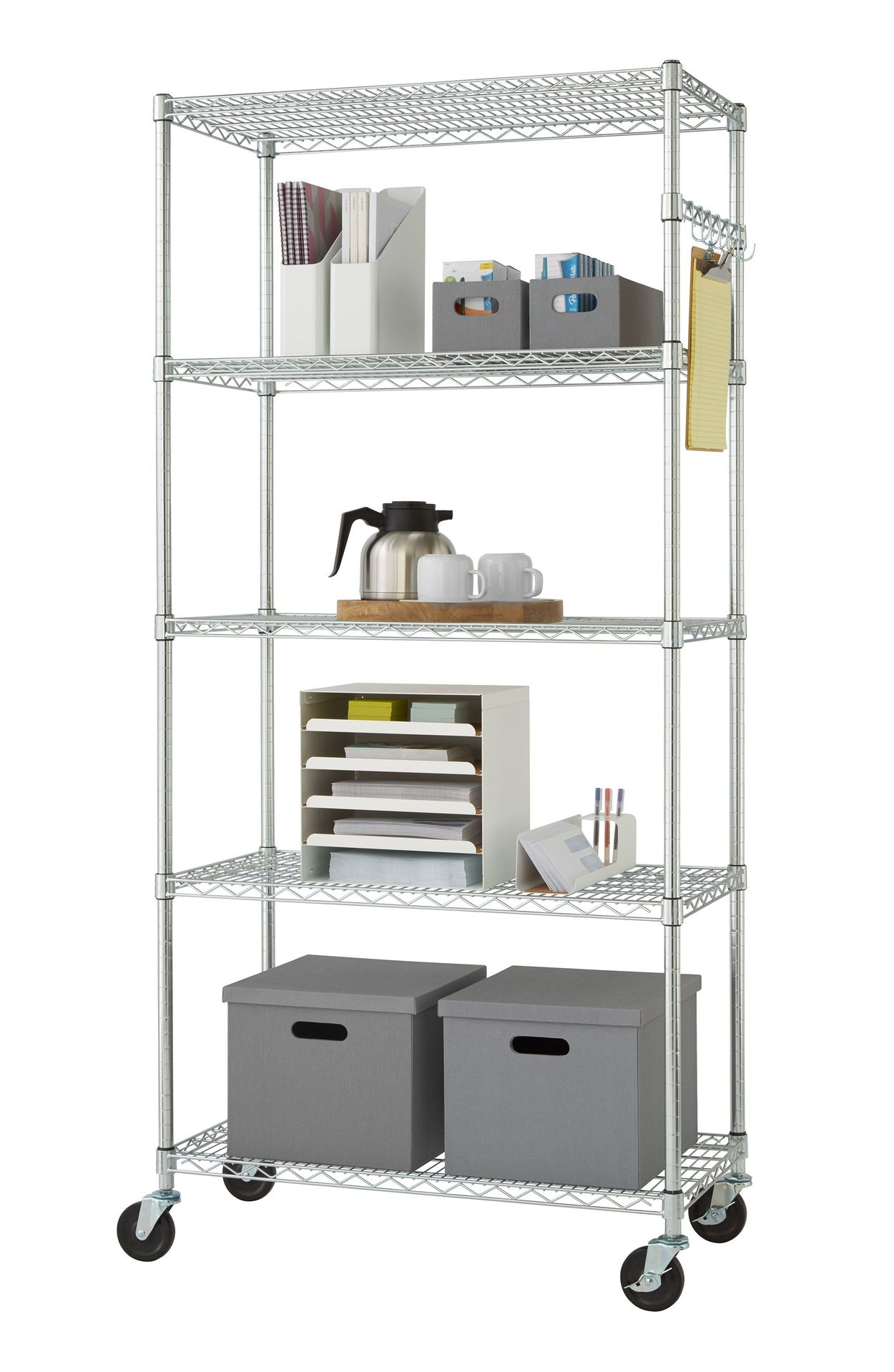 TRINITY TBFZ-0906 Wire shelving rack with props
