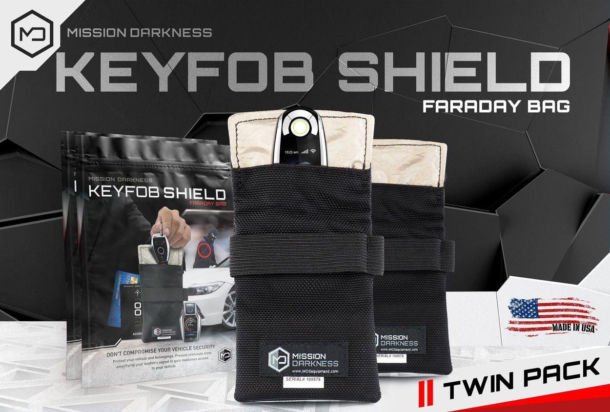 Mission Darkness - Keyfob shield. Twin Pack.