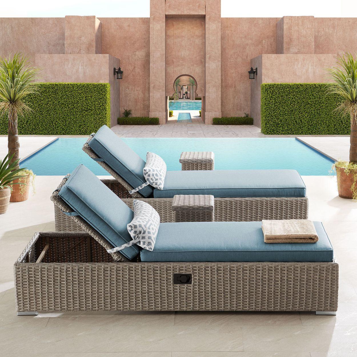 Niko 4 Piece Chaise Lounge Set