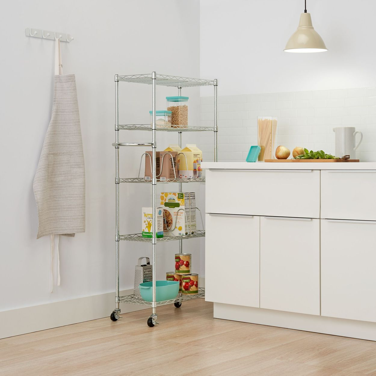 Pantry rack used in kitchen