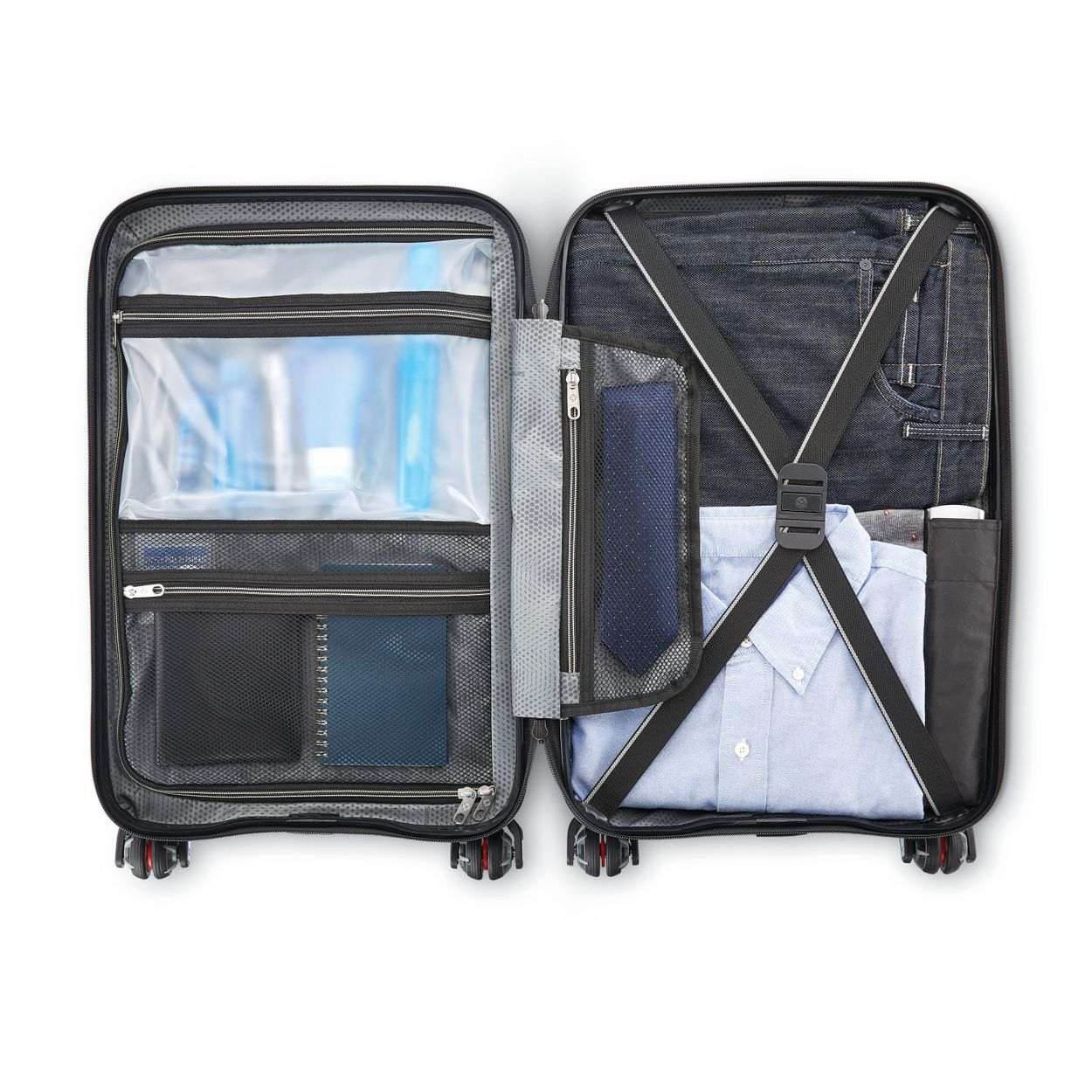 Samsonite, cross straps, organization, pockets