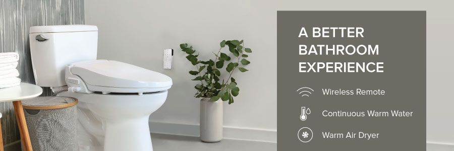 A Better Bathroom Experience: Wireless Remote, Continuous Warm Water, Warm Air Dryer