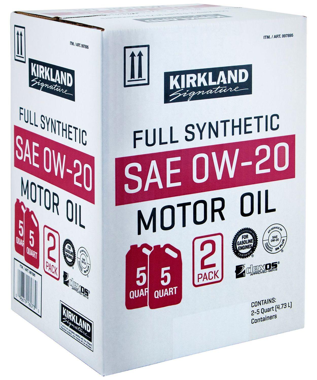 Image of the 5 quart oil carton that fits two 5 quart bottles