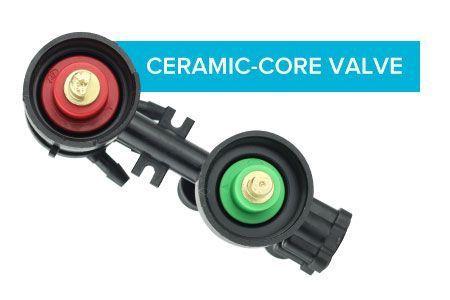 Ceramic-core valve
