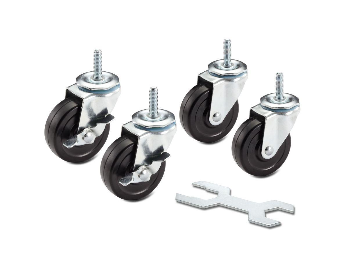 """2"""" x 1"""" wheel set: locking and non locking"""