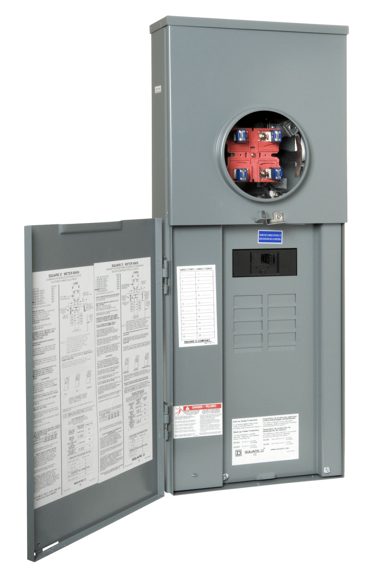 Square D 200 Amp 8 Spaces 16 Circuit Main Breaker Meter Combo Load Center In The Breaker Boxes Department At Lowes Com