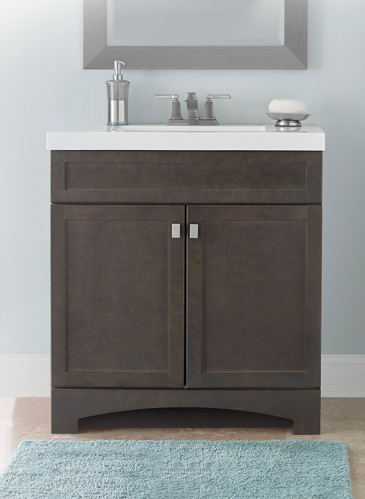 Style Selections Drayden 30 In Heirloom Single Sink Bathroom Vanity With White Cultured Marble Top In The Bathroom Vanities With Tops Department At Lowes Com