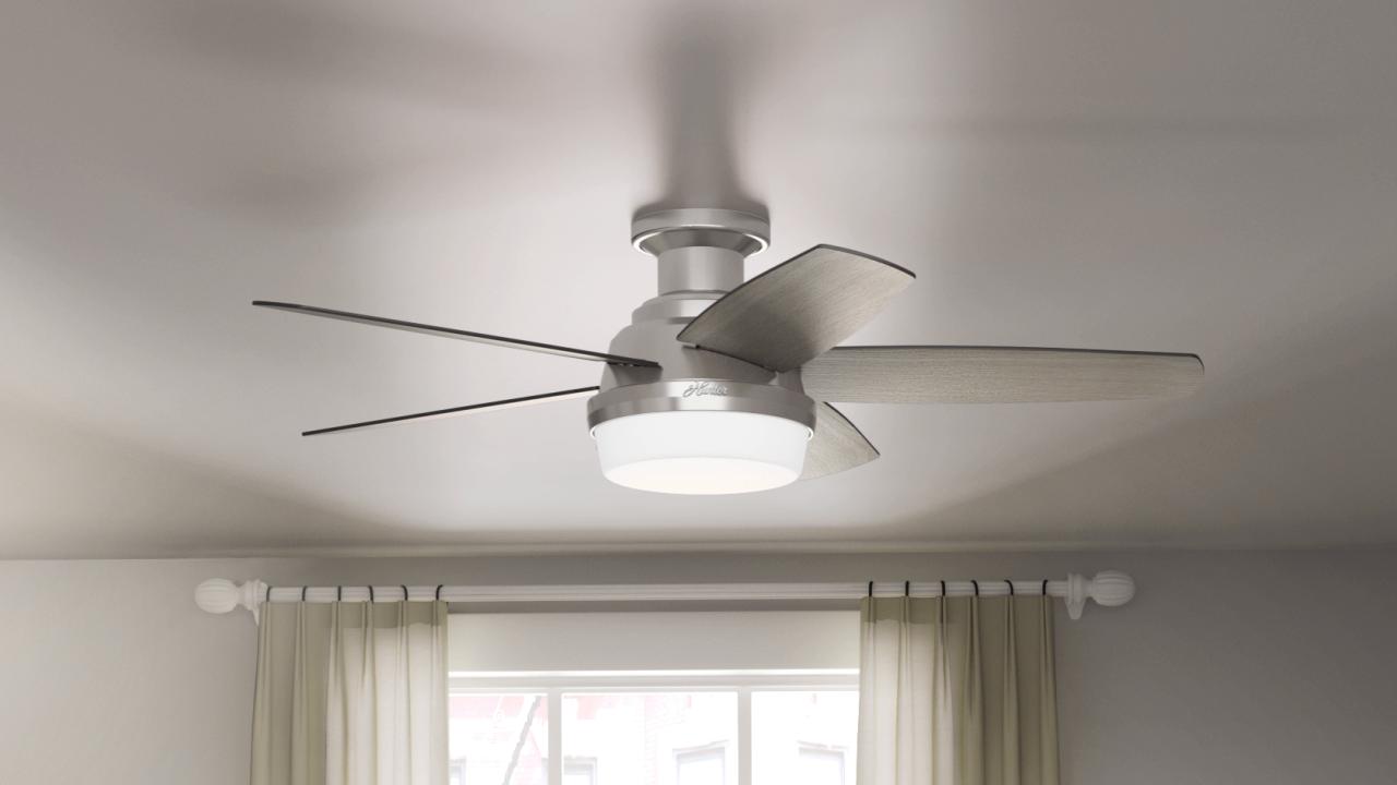 Hunter Avia Low Profile Led 48 Ceiling Fan Costco