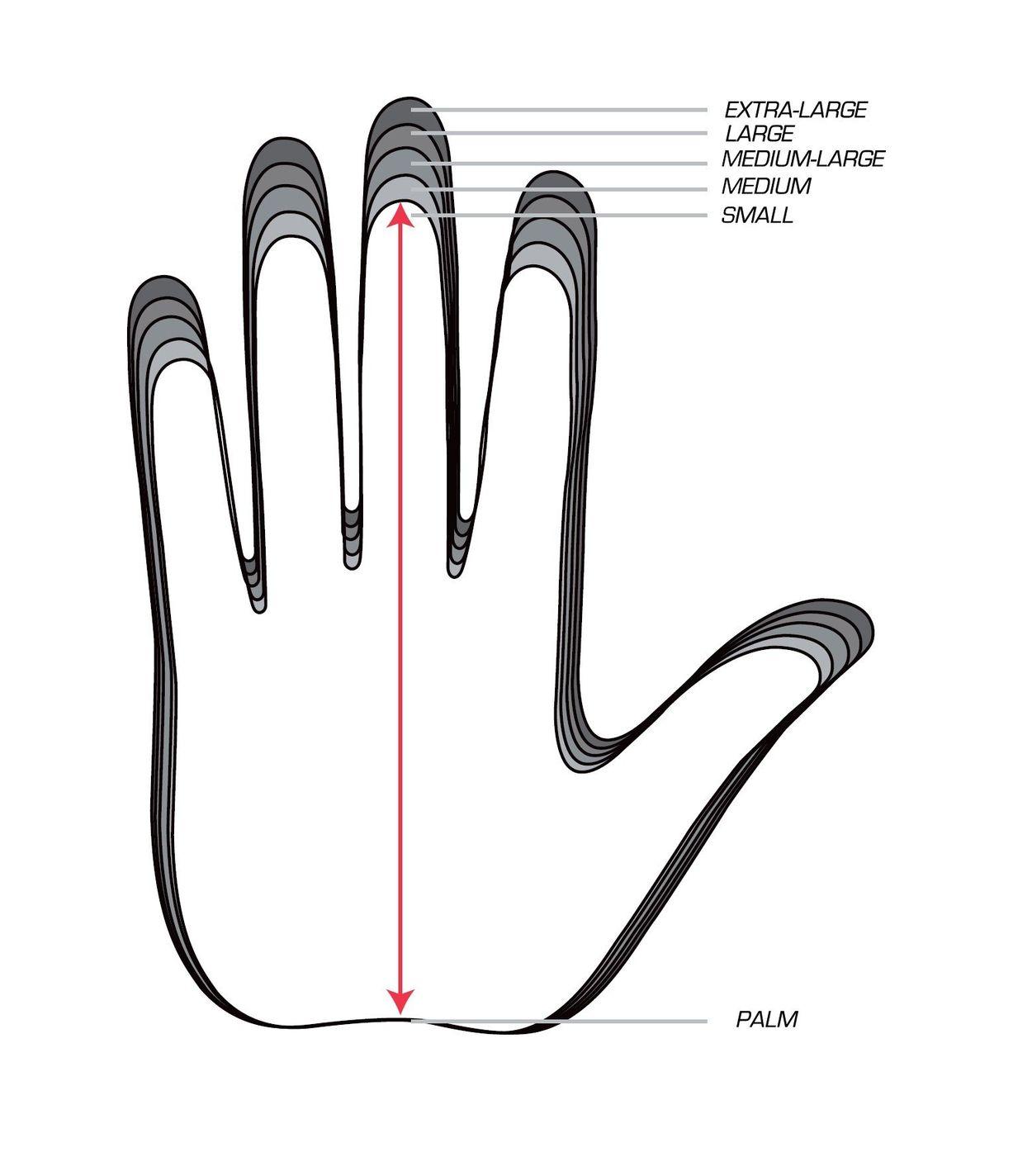 golf glove size chart