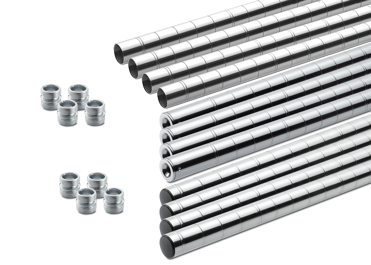 Set of 4 middle, bottom, and top poles with 2 sets pole connectors