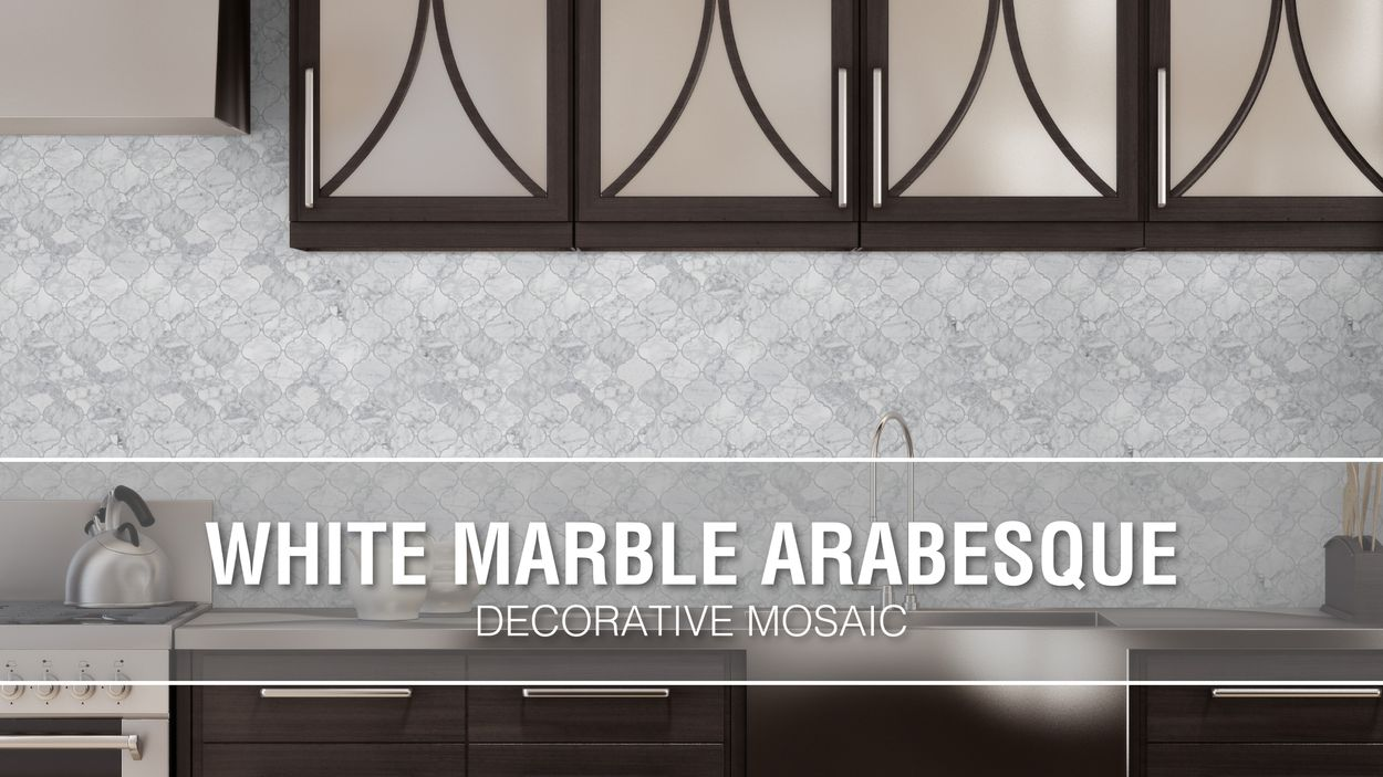 Elida Ceramica White Marble Arabesque 12 In X 12 In Glossy Natural Stone Marble Lantern Wall Tile In The Tile Department At Lowes Com