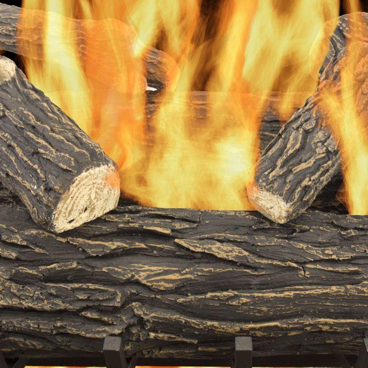 Pleasant Hearth 30 Willow Oak Vented Gas Log Set 65,000 BTUs